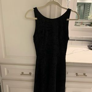 Super Cute Velvet Dress with a Deep V Back